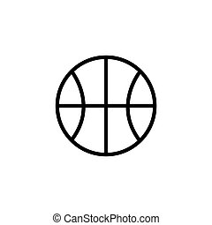 illustration of a basketball outline isolated icon