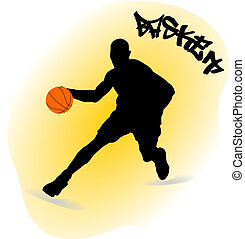 illustration of a basketball player
