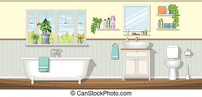 Illustration of a bathroom