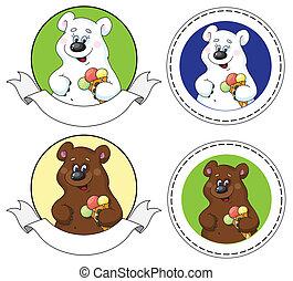 bear and ice cream banner