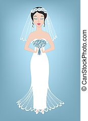 Illustration of a beautiful bride