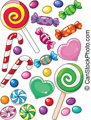 sweets - illustration of a beautiful sweets
