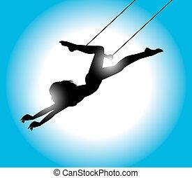 Trapeze artist - illustration of a beautiful Trapeze artist ...