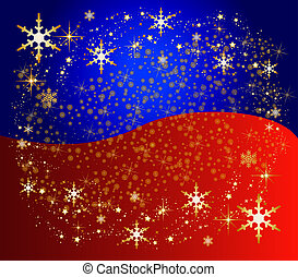 bicolor christmas background with stars - illustration of a...