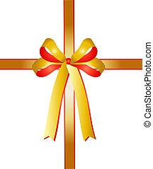 bicolor ribbon - illustration of a bicolor ribbon
