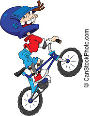 bicyclist - illustration of a bicyclist