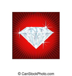 big diamond on red background