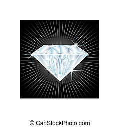 illustration of a big diamond