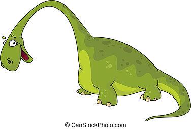 illustration of a big dinosaur