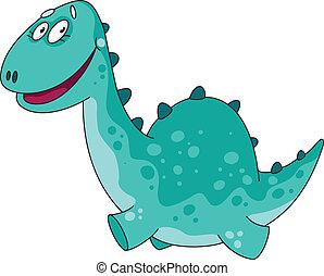 illustration of a big funny dino