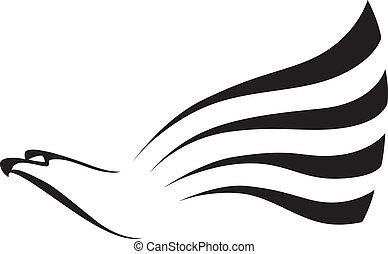 big hawk - illustration of a big hawk