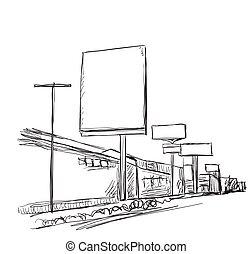 Illustration of a Billboard