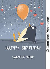 Illustration of a birthday card.