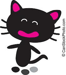 Illustration of a black cat