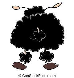 Black sheep. - Illustration of a Black sheep.
