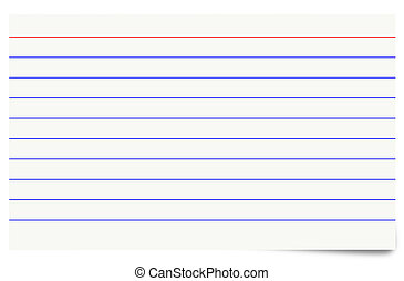 Illustration of a blank isolated index card.