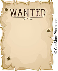 Blank Wanted Poster - Illustration of a Blank Wanted Poster