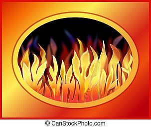 Illustration of a Blazing Fire