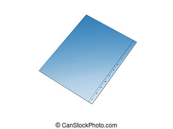 Illustration of a blue folder containing documents