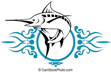 Blue marlin - Illustration of a Blue marlin