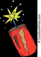 illustration of a bomb . .