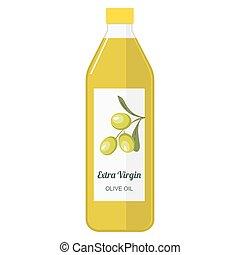Illustration of a bottle with olive oil
