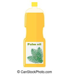 Illustration of a bottle with palm oil