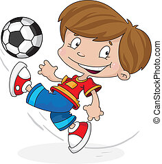 boy with a ball - illustration of a boy with a ball