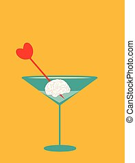 illustration of a brain cocktail