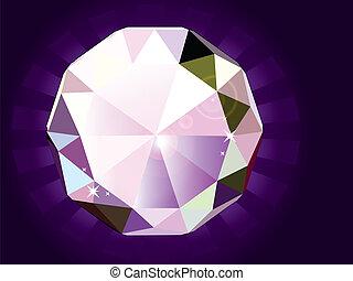 A brilliant cut diamond