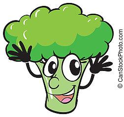 a broccoli - illustration of a broccoli on a white...