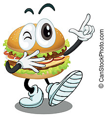 illustration of a burger on a white background