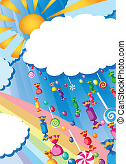 candy rain and sun card