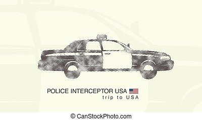 illustration of a car police interceptor