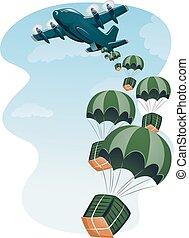 Cargo Plane Air Drop