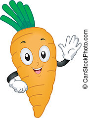 Carrot Mascot - Illustration of a Carrot Mascot Waving its...