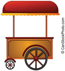 illustration of a cart stall on a white background