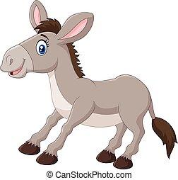 Illustration of a cartoon donkey