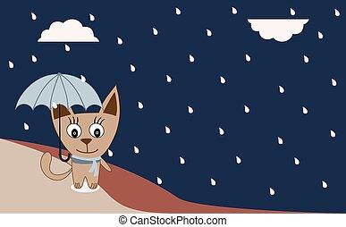 Illustration of a cat walking