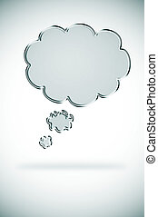 chain thought bubble - illustration of a chain thought ...