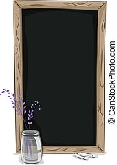 Chalkboard Frame - Illustration of a Chalkboard Frame and a...