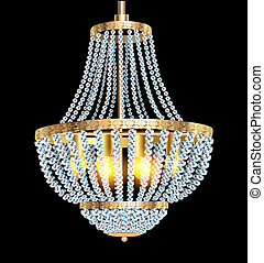 chandelier with crystal pendants - illustration of a...