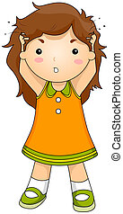 Head Lice - Illustration of a Child with Head Lice ...