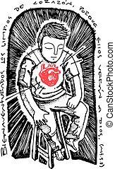 Illustration of a Christian biblical beatitude - Hand drawn ...