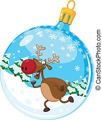 christmas ball with deer