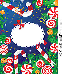 Christmas candy card