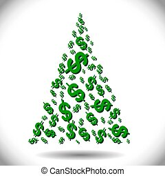Illustration of a Christmas money tree as a symbol of...