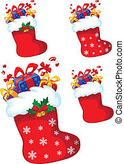 christmas stocking with gift set