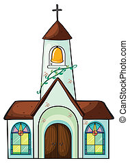 a church - illustration of a church on a white background