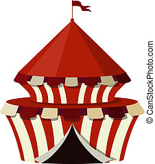 Illustration of a circus on a white background